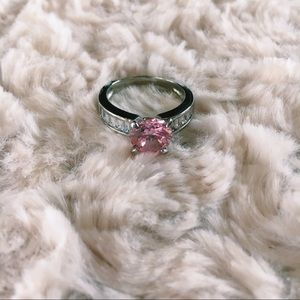 Silver Ring w/ Pink Stone